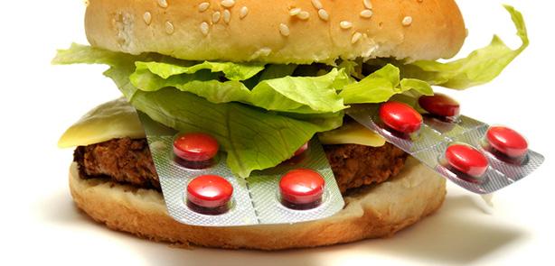 Hamburger cu pastile la desert
